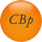 An orange button with CBP on it