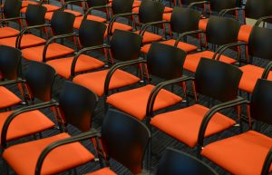 picture of orange chairs